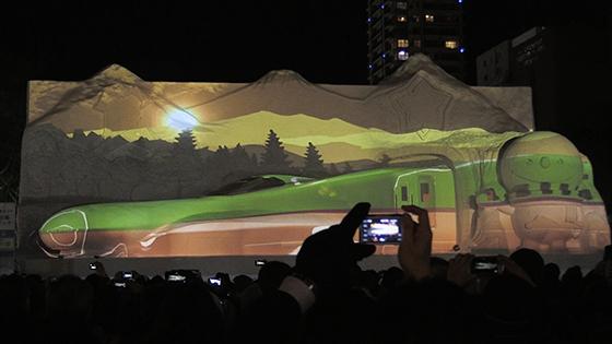 進撃の巨人やH5系新幹線雪像に試験点灯詳しくはこちら