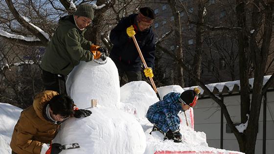 市民雪像個性豊かに 製作始まる詳しくはこちら