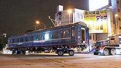 「北斗星」客車 夜の札幌走る 北斗へ移送