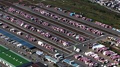 札幌貨物ターミナル駅に大量のコンテナ滞留 JR貨物