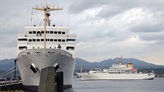 練習船2隻が同時入港 室蘭 青雲丸と大成丸