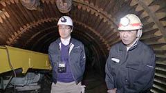 炭都の歴史を将来へ 改修中の夕張炭鉱模擬坑道を報道公開