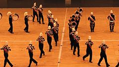華麗な隊列移動と演奏披露 北海道マーチングフェス