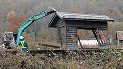 旧白滝駅の駅舎解体 JR石北線