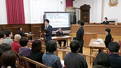 AIによる人事評価は妥当か 北大実習班の受講生が2030年の裁判劇熱演 観客も陪審員で参加
