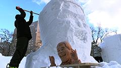 ピコ太郎だけじゃない こだわりと独創性高い市民雪像づくり始まる さっぽろ雪まつり大通会場