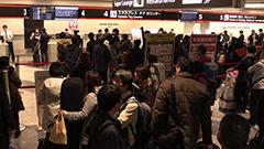 滑走路一時閉鎖 60便以上欠航 北海道・新千歳空港 JAL機立ち往生が原因