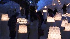 運河や夜道を延べ12万本のろうそくが彩る「小樽雪あかりの路」が開幕