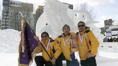 鶴の舞を表現したマカオチームに栄冠 国際雪像コンクール<さっぽろ雪まつり>
