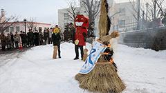 冬の女神を燃やし春を呼ぶ 函館の極東大でロシアまつり