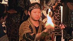 火打ち石使って聖火を採火 アイヌ民族伝統の方法で大学生ら<冬季アジア札幌大会>