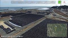 ふるさとの風景に黒い袋 富岡町上空ドローンで記録<福島を見つめる>